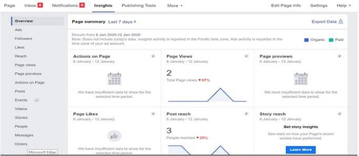 insights on facebook